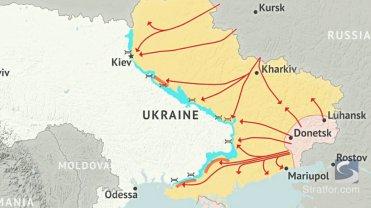 Rosyjska ekspansja na Ukrainie według Stratfor