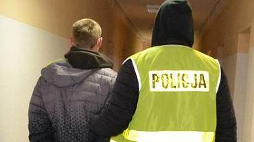 Zatrzymany Piotr L. 24-latek porwał swoją byłą partnerkę i ich 3-letnie dziecko.