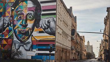 Pandemia koronawirusa. Opustoszałe centrum miasta. Łódź, 16 marca 2020