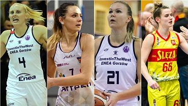 W sezonie 2020/21 razem w koszykarskim zespole z Gorzowa. Od lewej: Katarzyna Dźwigalska, Agnieszka Szott-Hejmej, Agnieszka Kaczmarczyk i Dominika Owczarzak