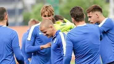 Tomasz Cywka podczas treningu Lecha Poznań