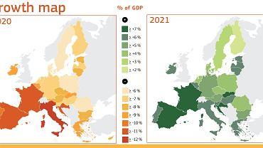 Prognozy PKB dla krajów Unii Europejskiej