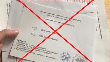 Karty do głosowania - fotomontaż