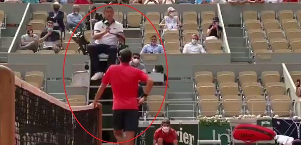 Kłótnia Rogera Federera z arbitrem