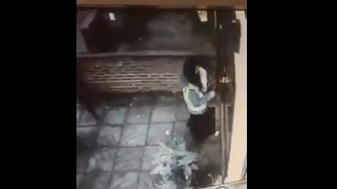 Nagranie przestrzega przed otwieraniem drzwi nieznajomym
