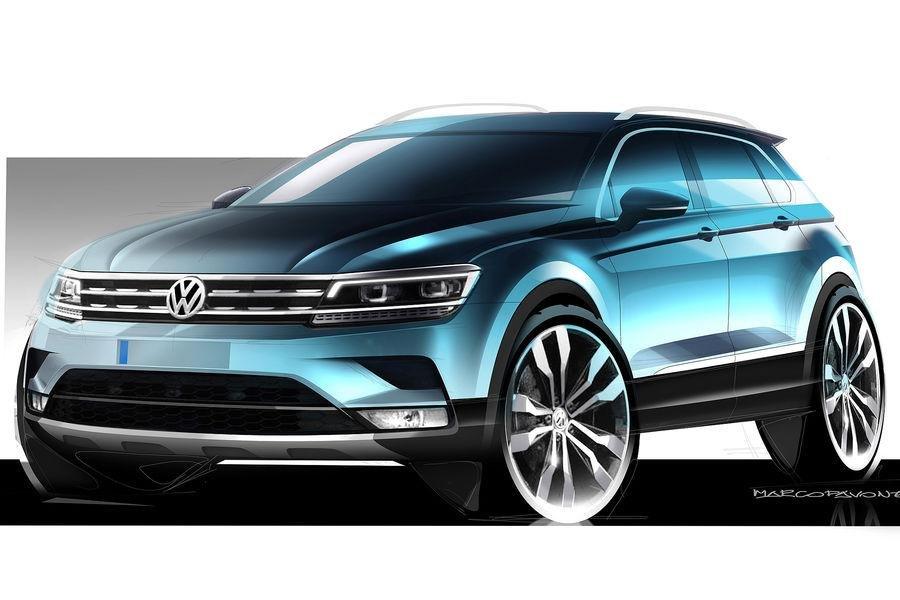 Volkswagen Tiguan - oficjalne szkice