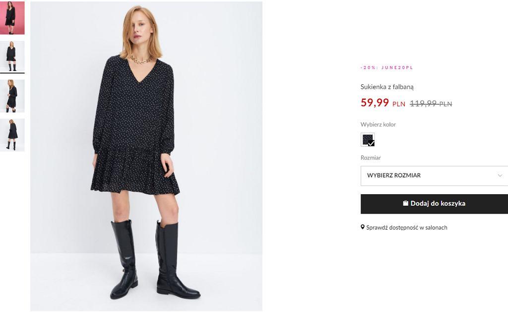 sukienka oversizowa