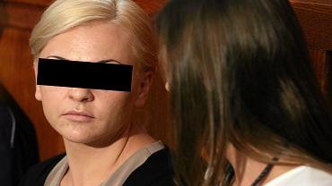 Na zdjęciu: Katarzyna P., żona Marcina Plichty, byłego prezesa Amber Gold podczas przesłuchania przed sejmową komisją śledczą.