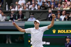 Z kim Hubert Hurkacz zagra o finał Wimbledonu? Włoch prowadzi