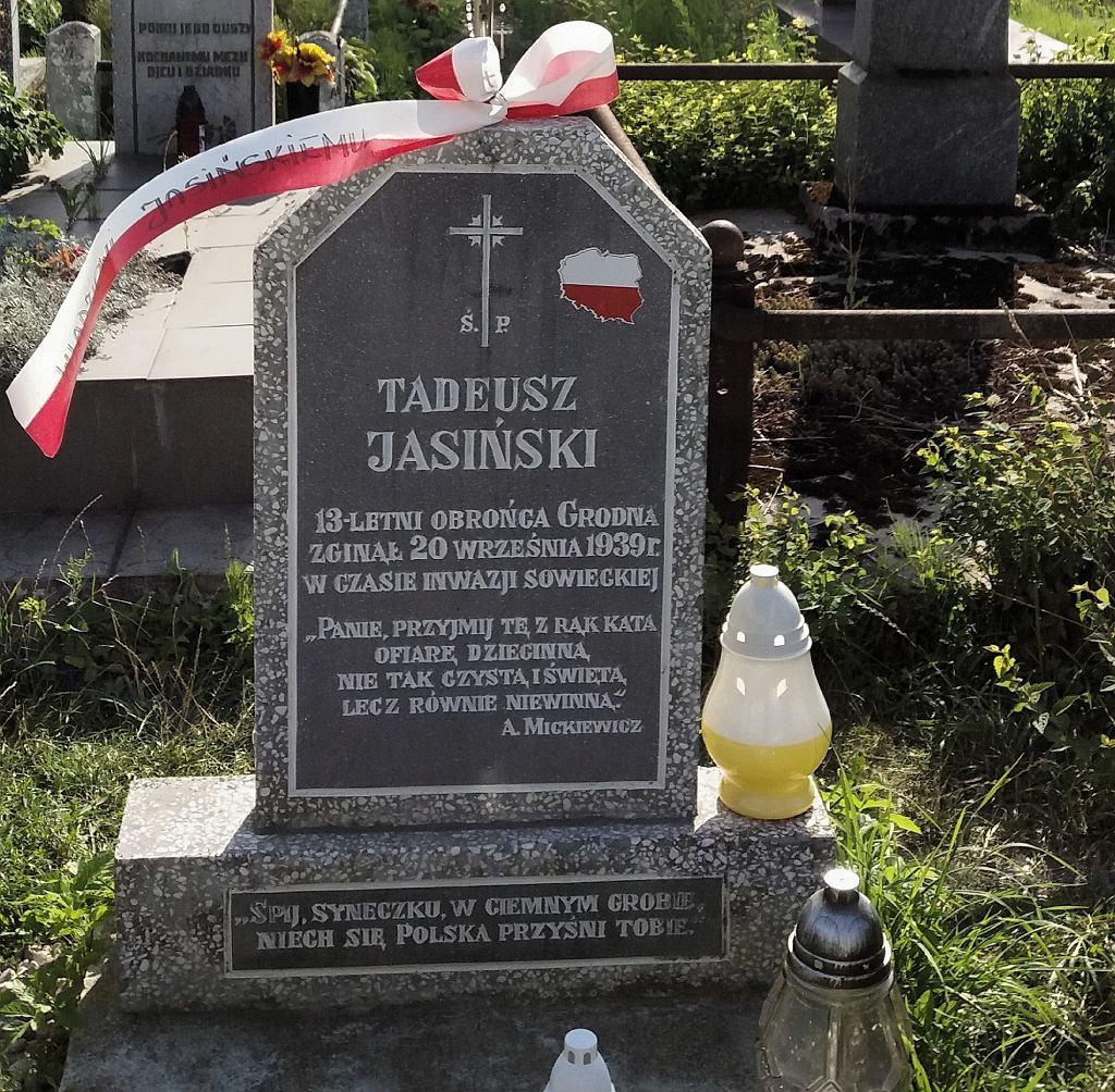 Grób Tadeusza Jasińskiego