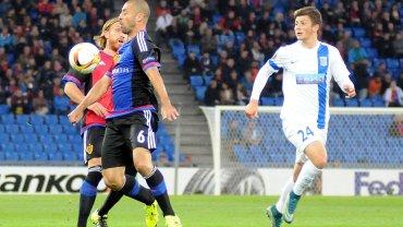 FC Basel - Lech Poznań 2:0. Dawid Kownacki, Walter Samuel