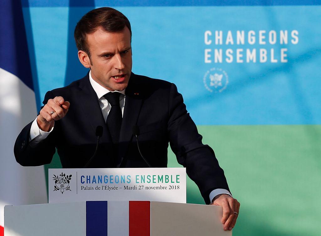 E.Macron, prezydent Francji