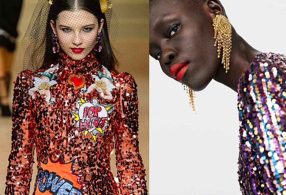 Cekiny wracają do mody