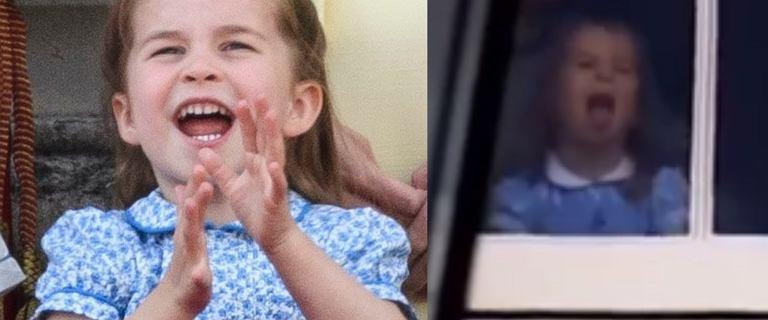 Księżniczka Charlotte tańczy w oknie. Nagranie staje się hitem sieci