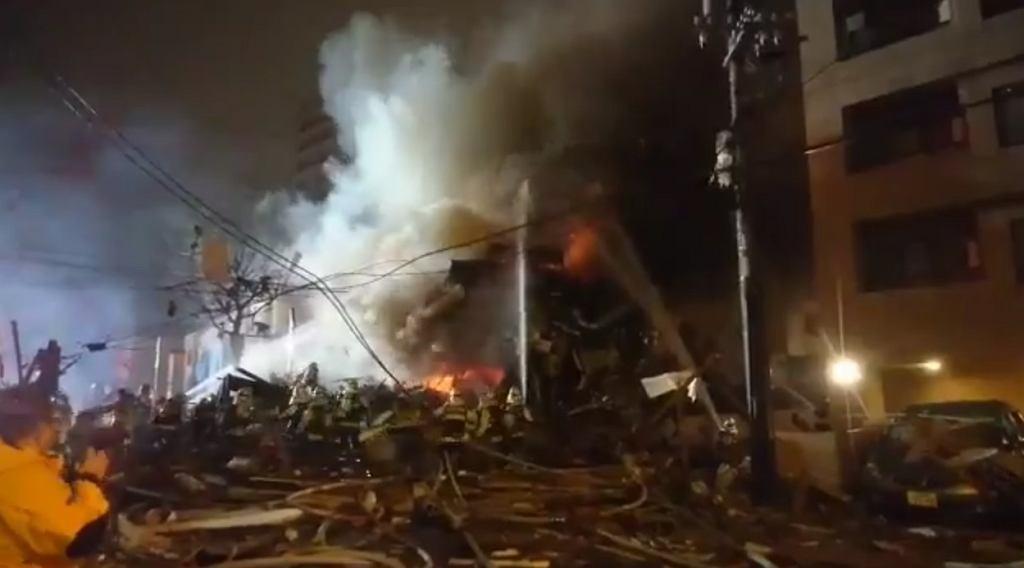 Wybuch i pożar w restauracji w Sapporo w Japonii