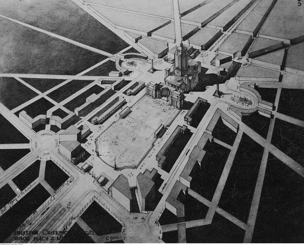Projekt świątyni Opatrzności Bożej w Warszawie  autorstwa architekta Andrzeja Boni, 1930 r.
