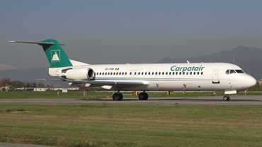 Fokker 100 linii Carpatair