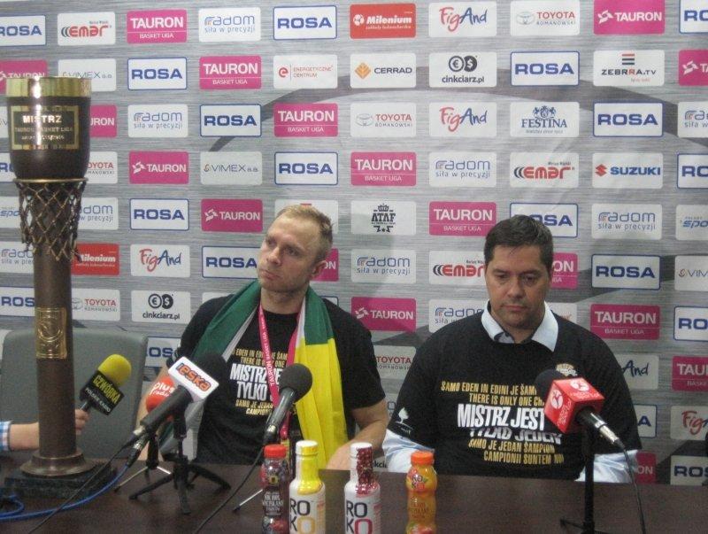 Konferencja prasowa po finałowym meczu Rosa vs Stelmet