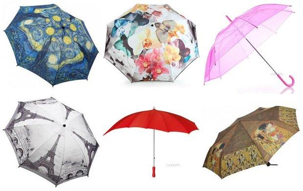 Niezwykłe parasolki przydatne w deszczowe dni