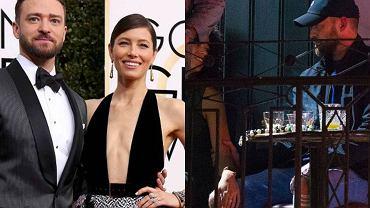 Justin Timberlake przeprasza żonę za dwuznaczne czułości z koleżanką z planu.