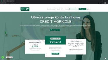 Fałszywa strona internetowa Credit Agricole