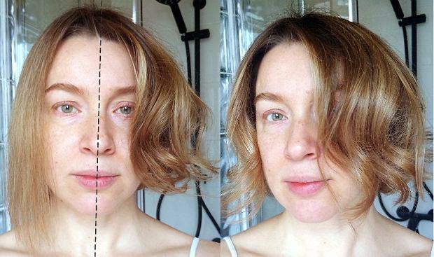 Włosy w trakcie suszenia i efekt tuż po ułożeniu loków