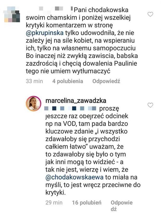 Zawadzka broni Chodakowskiej