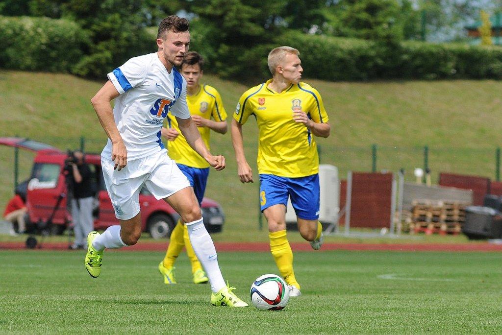 Lech Poznań - Atlantas Kłajpeda 2:0 w sparingu w Gniewinie. Denis Thomalla