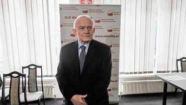 Leszek Miller podczas konferencji prasowej w Poznaniu, 16.03.2019 r.