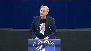 Robert Biedroń podczas debaty w PE na temat aborcji w Polsce