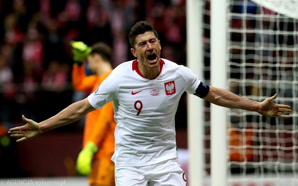 Polska - Łotwa 2:0. Robert Lewandowski