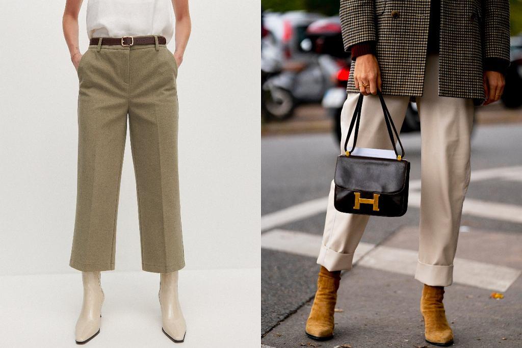Dzianinowe spodnie