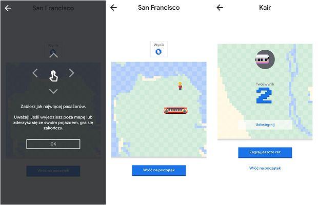 Gra wąż w Mapach Google