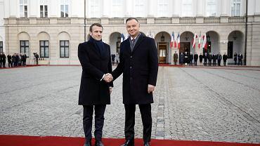 BPowitanie Prezydenta Republiki Francuskiej przez Prezydenta Polski