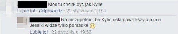 Fani o makijażu Kylie Jenner