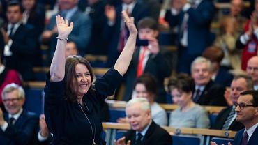 Joanna Lichocka na konwencji PiS w Poznaniu. fot. Facebook/PiS