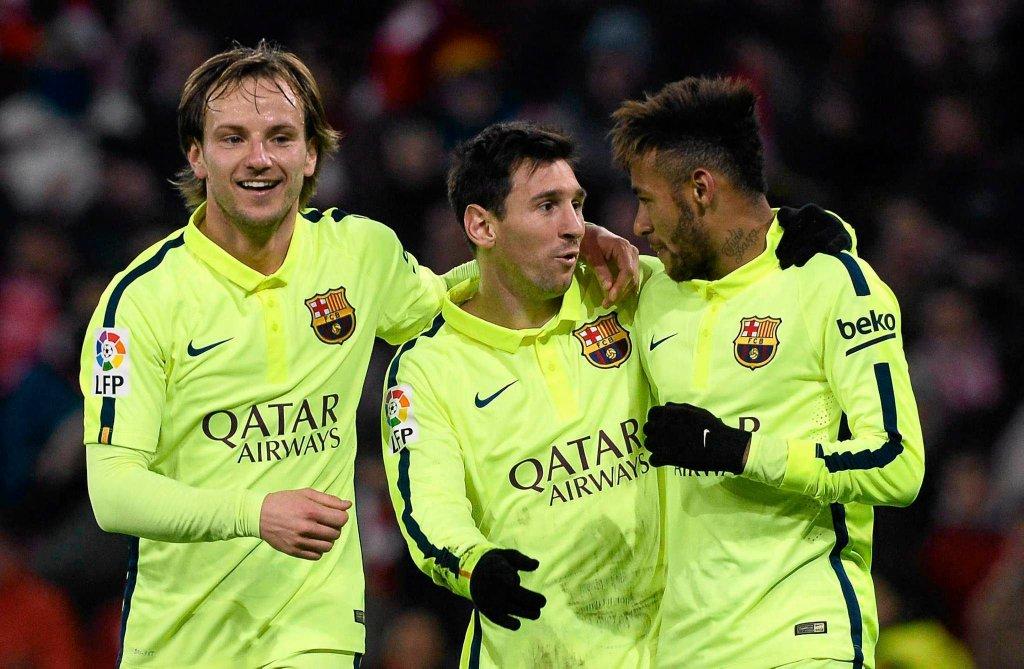 Athletic Bilbao - FC Barcelona 2:5. Ivan Rakitić, Leo Messi i Neymar