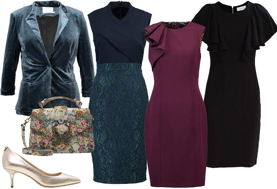 Wigilia firmowa - stylizacja z sukienką
