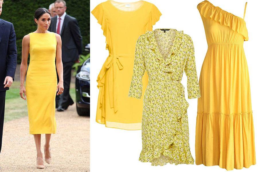 Meghan w żółtej sukience