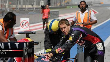 Sebastian Vettel podczas testów w Bahrajnie