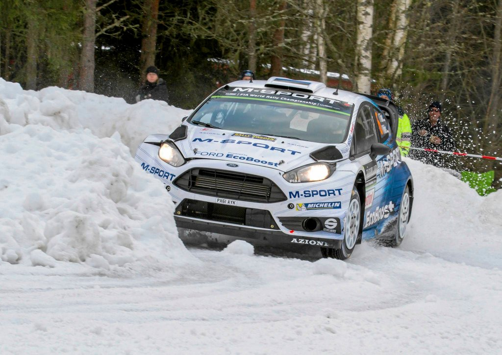 Ott Tanak (M-Sport) podczas Rajdu Szwecji