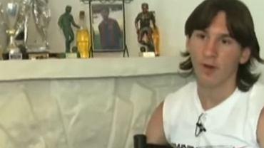 Lionel Messi udzielający wywiadu w wieku 16 lat