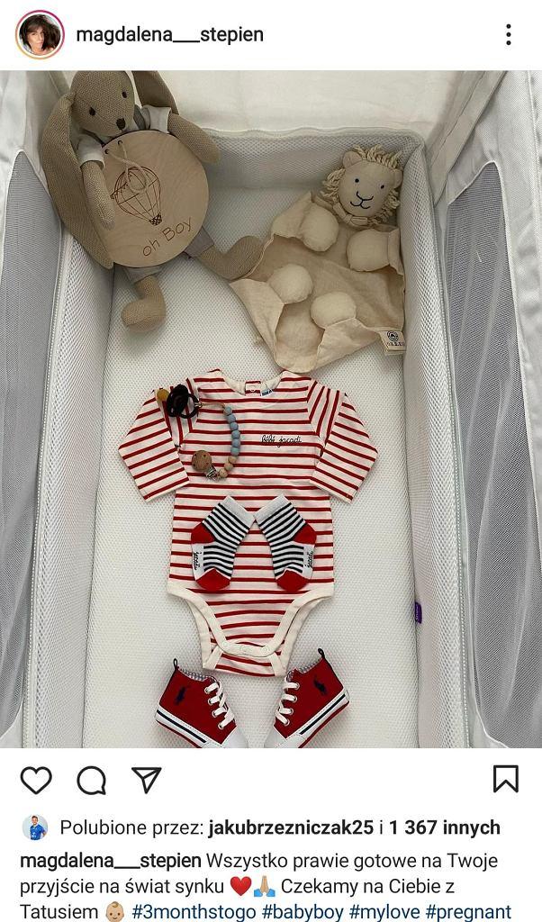 Magdalena Stępień pokazała ubrania dla syna
