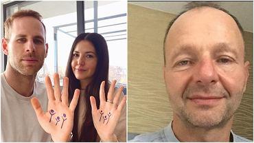 Peter Gulacsi z partnerką na zdjęciu wspierającej akcję 'Rodzina To Rodzina' (po lewej) i Zsolt Petry, zwolniony trener bramkarzy Herthy Berlin