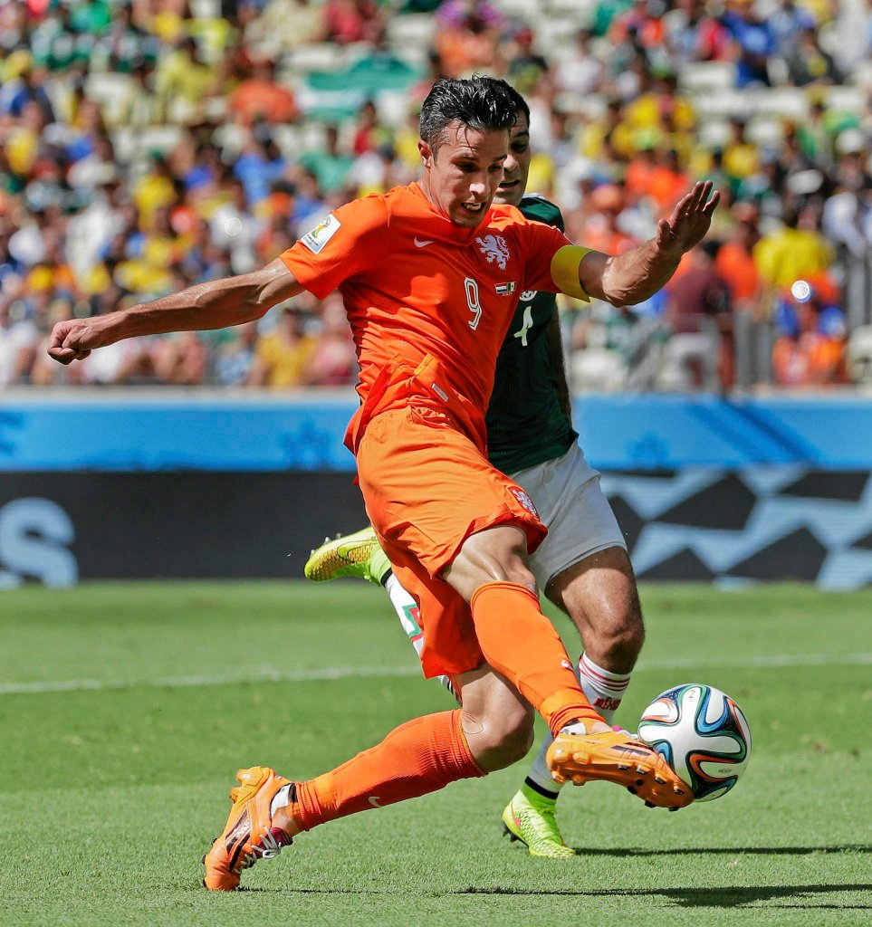 Holandia - Meksyk 2:1. Robin van Persie
