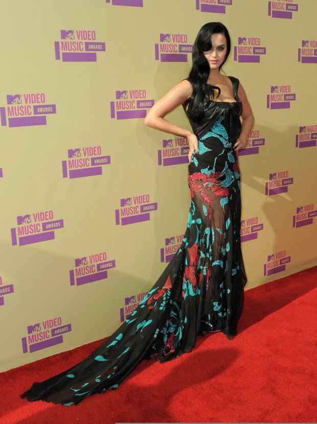 Katy Perry arrives at the MTV Video Music Awards on Thursday, Sept. 6, 2012, in Los Angeles. (Photo by Jordan Strauss/Invision/AP)