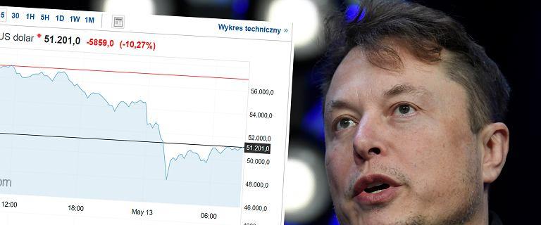 Bitcoin runął, bo Musk ma kaprys. Tesla nie akceptuje już kryptowaluty