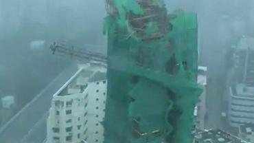 Upadek dźwigu w Hongkongu