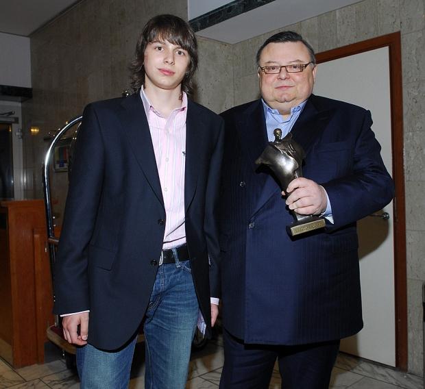 Wojciech Mann z synem