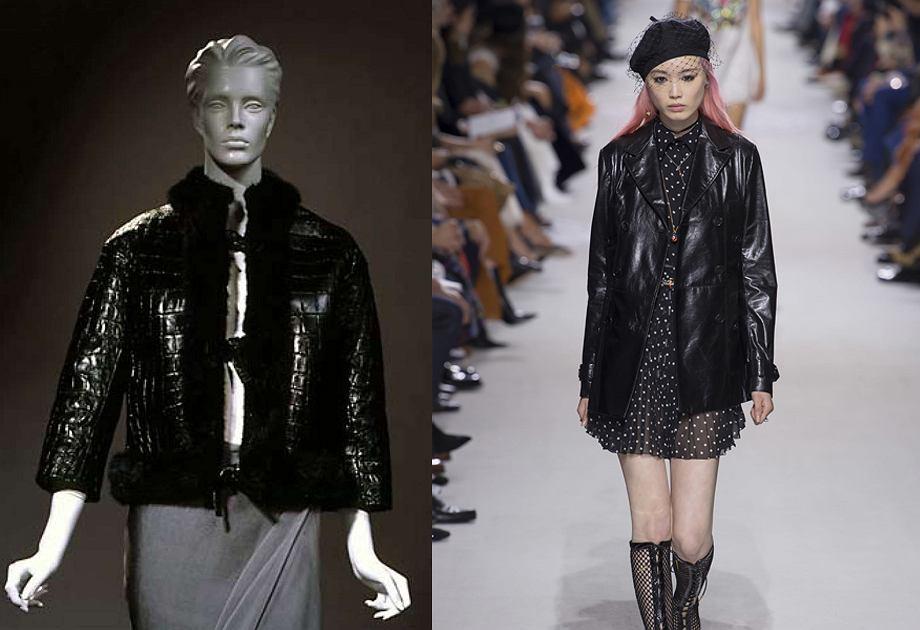 Dior - kurtka skórzana zaprojektowana przez YSL / Kurtka skórzana z kolekcji wiosna 2018